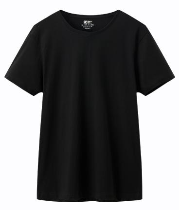 黑色带领t恤素材
